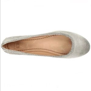 Frye Carson Leather Ballet Flats Grey 5.5